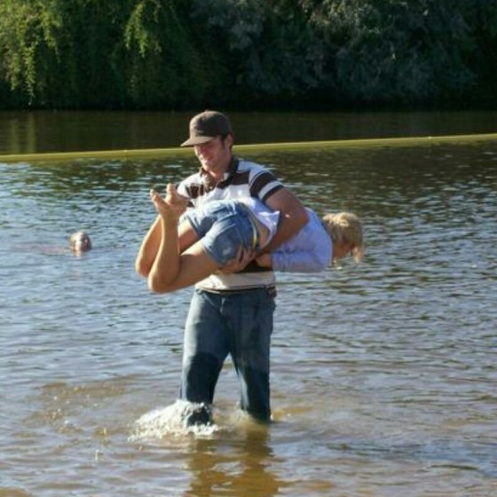 Here we are back in the old days where Dom tried to drop me in nasty water.